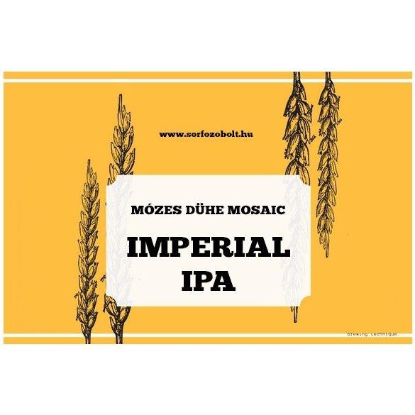 Mózes Dühe Mosaic IMPERIAL IPA receptcsomag