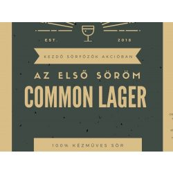 Common Lager receptcsomag (4L) Let's Brew Kithez